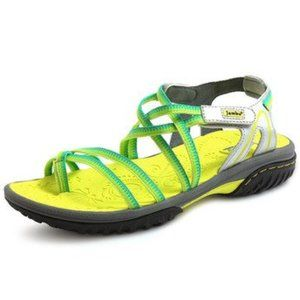 Jambu Runner yellow green sport sandals toe loop